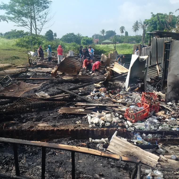 Kantin di kantor Gubernur Banten ludes terbakat