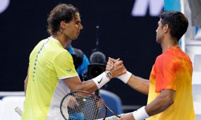 Rafael Nadal Tersingkir oleh Fernando Verdasco di babak pertama Australia Terbuka dalam pertandingan penuh lima set. (net)