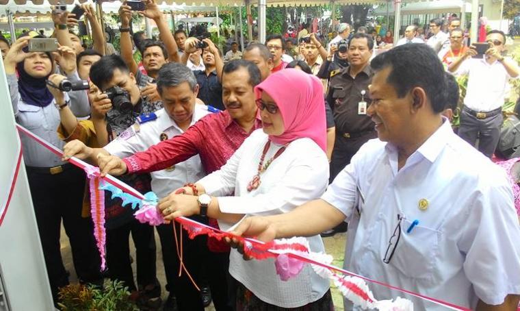 Asda II Provinsi Banten Eneng Nurcahyati saat meresmikan PPSA di kawasan Pelindo II Banten