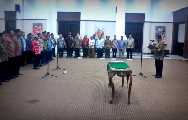 Gubernur Banten Rano Karno melantik pejabat eselon IV di Aula Pendopo Gubernur Banten,
