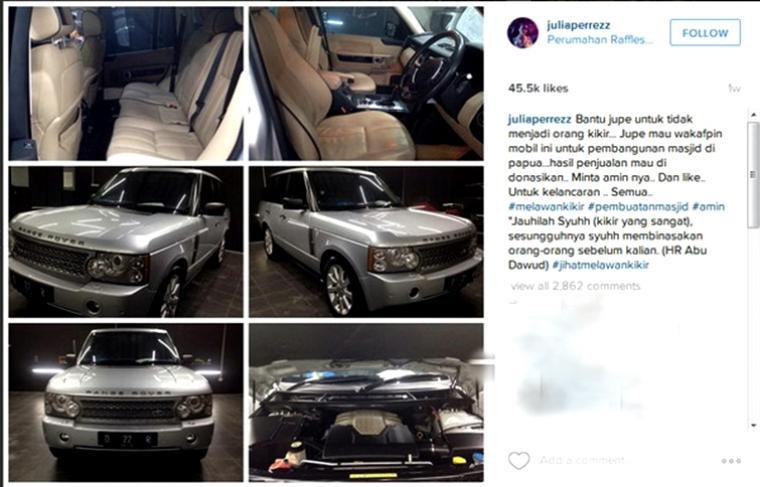 Postingan di Instagram Jupe Istimewa/Net