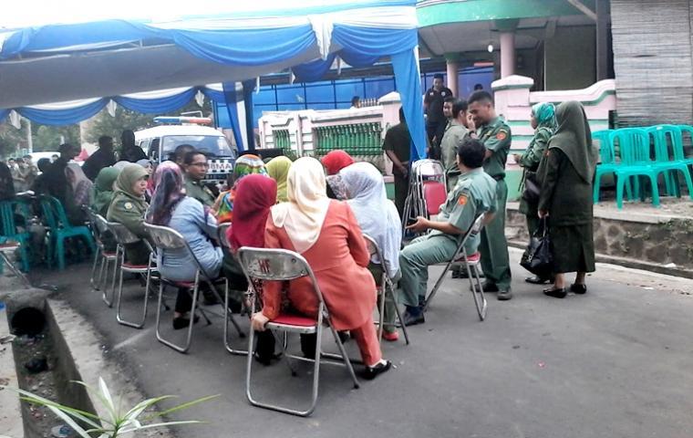 Suasana rumah korban air bah, Ryan Anwarul Hadi di Kaujon Kidul, Serang /Herlin