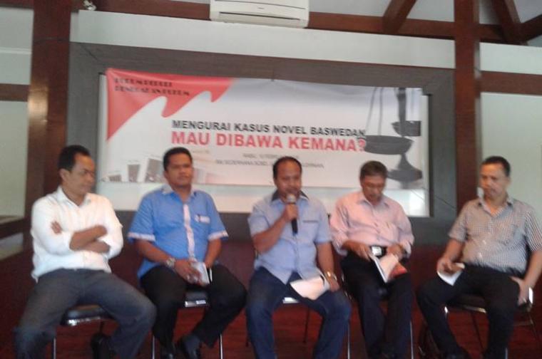 Suasana diskusi \'Mengurai Kasus Novel Baswedan mau Dibawa Kemana\' yang digelar oleh Forum Peduli Penegak Hukum, di Jakarta.