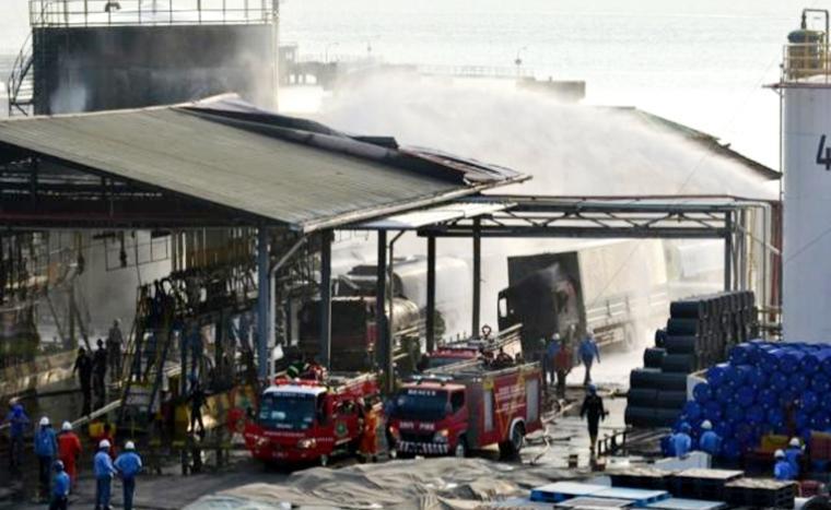 Disnaker Banten Terjunkan Tim Slidiki Ledakan di PT Dover Chemical