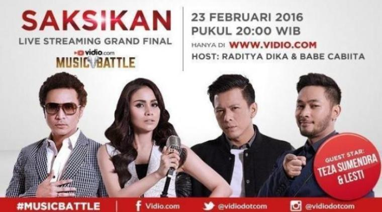 Besok, grand final vidio.com music battle akan di gelar. (Foto:bintang.com)