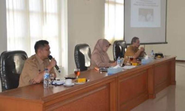 Bupati dan wakil bupati Pandeglang saat memberikan arahan. (Foto:TitikNOL)