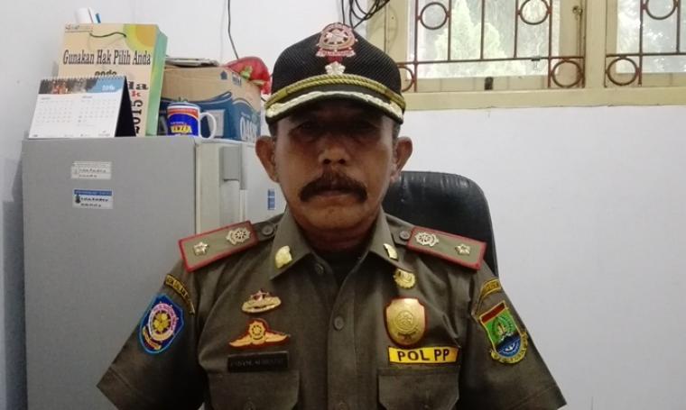 Kepala Seksi (Kasi) Trantib Satpol PP Kota Cilegon, Endang Sudrajat. (Foto:TitikNOL)