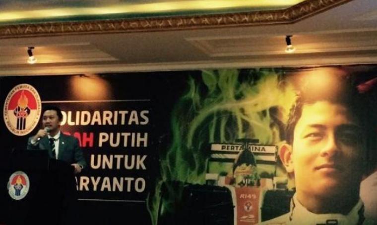 Menpora Imam Nahrawi di program \\\'\\\'Solidaritas Merah Putih untuk Rio Haryanto.\\\'\\\' (Dok:net)