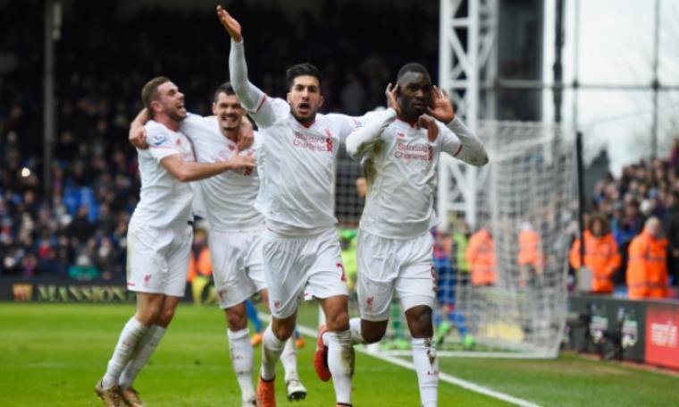 Sejumlah pemain Liverpool lakukan selebrasi. (Dok:net)