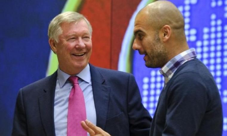 Sir Alex Ferguson dan Pep Guardiola. (Dok:net)