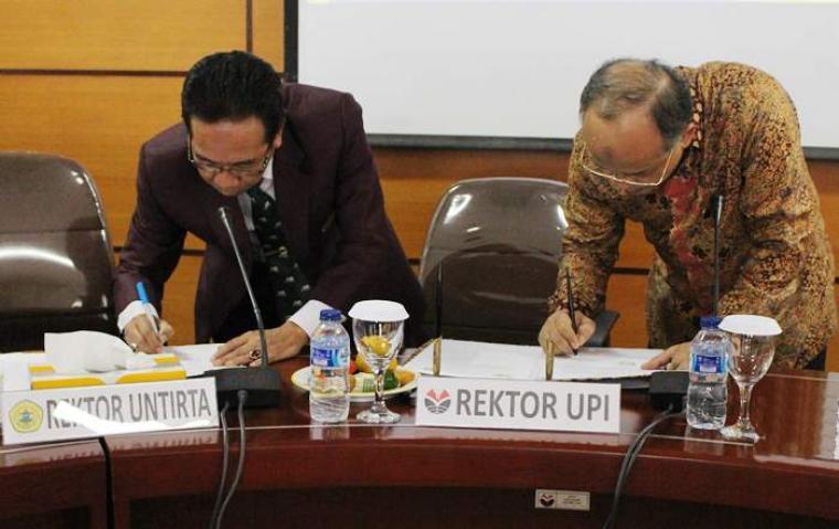 Universitas Sultan Ageng Tirtayasa (Untirta) jalin kerjasama dengan Universitas Pendidikan Indonesia (UPI) untuk tingkatkan sumber daya manusia bangsa Indonesia. (Foto:TitikNOL)