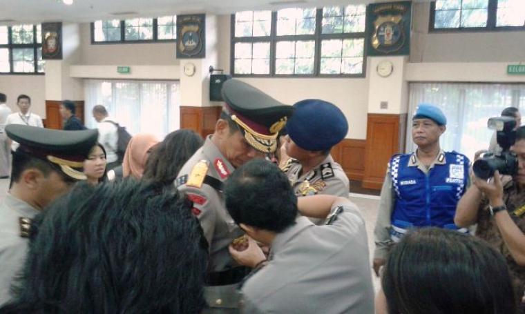 Brigjen Pol Rudy Sufahriadi saat dilantik. (Foto:TitikNOL)