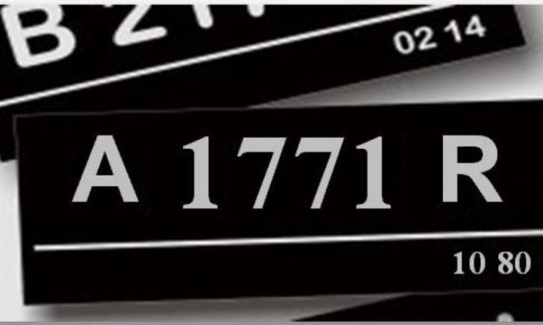 Ilustrasi plat nomor kendaraan. (Dok:net)