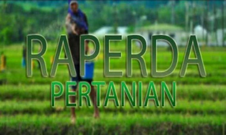 Ilustrasi Raperda Pertanian. (Dok:net)