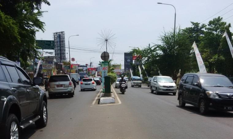 Jalur jalan protokol Kota Serang yang akan ditutup total di jam tertentu selama acara MTQ tingkat Provinsi Banten ini berlangsung. (Foto:TitikNOL)