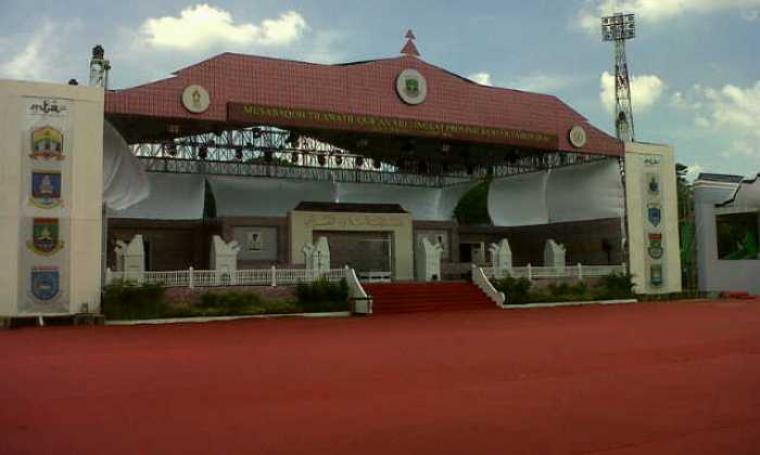 Panggung utama perlombaan MTQ XIII se-Provinsi Banten. (Foto:TitikNOL)