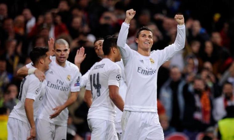 Sejumlah pemain Real Madrid lakukan selebrasi. (Dok:net)
