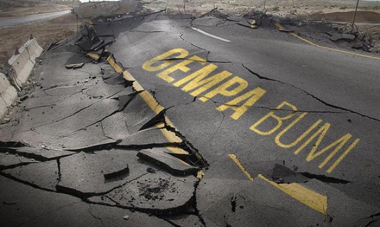 Ilustrasi gempa bumi. (Dok:net)