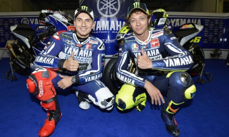 Yamaha Factory Racing, Lorenzo dan Valentino Rossi. (Dok:net)