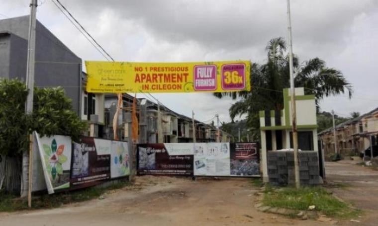 Lokasi berdirinya apartemen yang berada di lingkungan Sumur Menjangan, Kelurahan Kotasari, Kecamatan Grogol, Kota Cilegon. (Dok:TitikNOL)