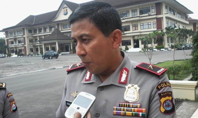 Kapolda Banten, Ahmad Dofiri saat di wawancarai wartawan