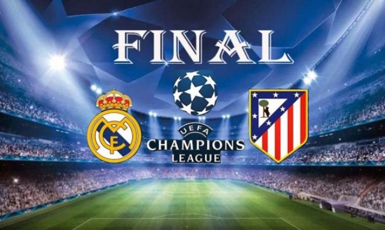 Final Liga Champions Real Madrid vs Atletico Madrid. (Dok:net)