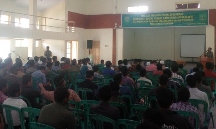 Suasana acara komunikasi sosial Kodim 0603 Lebak bersama tokoh masyarakat Lebak yang membahas tentang mewaspadai paham komunis. (Foto:TitikNOL)