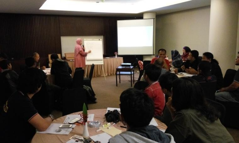 Suasana kegiatan diskusi dan workshop yang di lakukan BPPMD Provinsi Banten dengan pihak media di Hotel Ratu Bidakara. (Foto: TitikNOL)