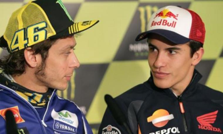 Valentino Rossi dan Marc Marquez. (Dok: Riauonline)