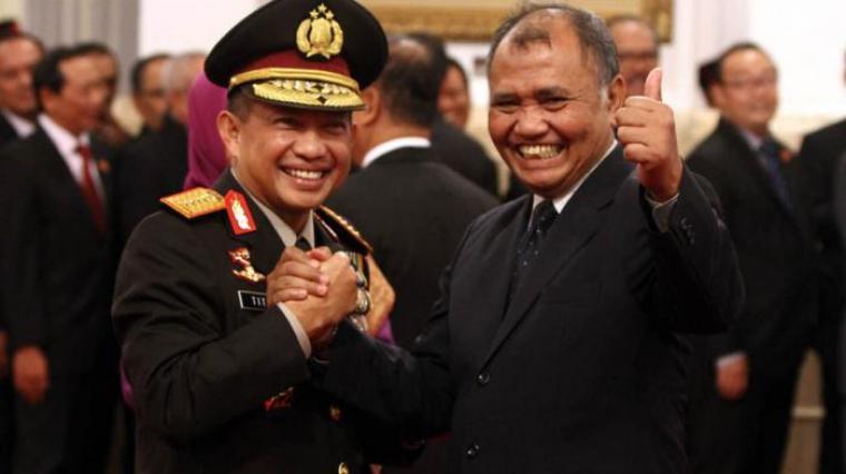 Kapolri Tito Karnavian dan Ketua KPK, Agus Rahardjo. (Dok: tribunnews)