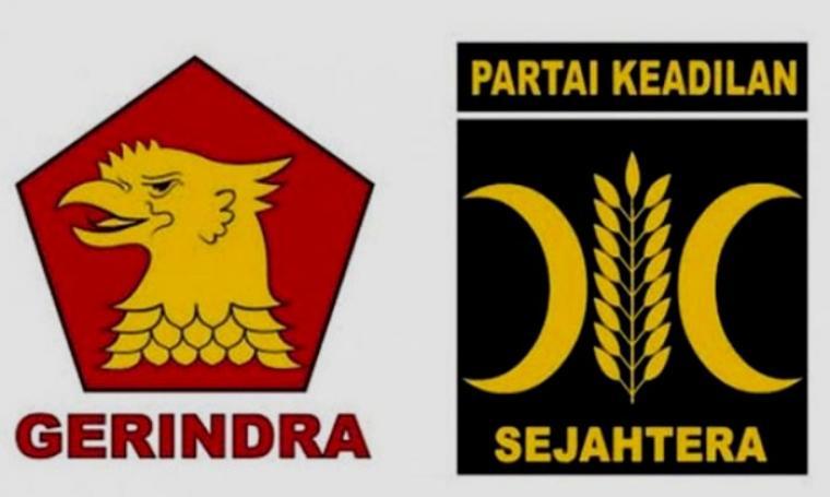 Ilustrasi Partai Gerindra dan PKS. (Dok: waspada)