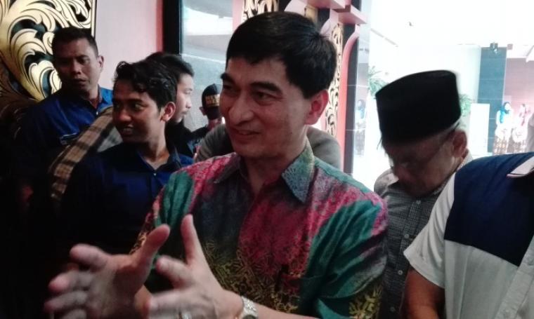 Ahmad Dimyati Natakusumah saat diwawancarai wartawan, di sela-sela acara KRB, di Hotel Grand Mangkuputra (GMP), Kota Cilegon, Rabu (10/8/2016). (Foto: TitikNOL)