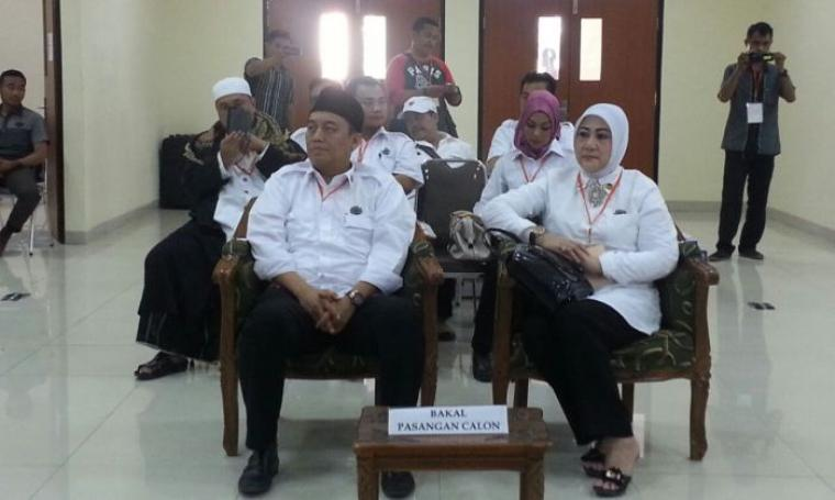 Pasangan cagub dan wagub Banten, Yayan Sofyan - Ratu Enong. (Dok: kpu-bantenprov)