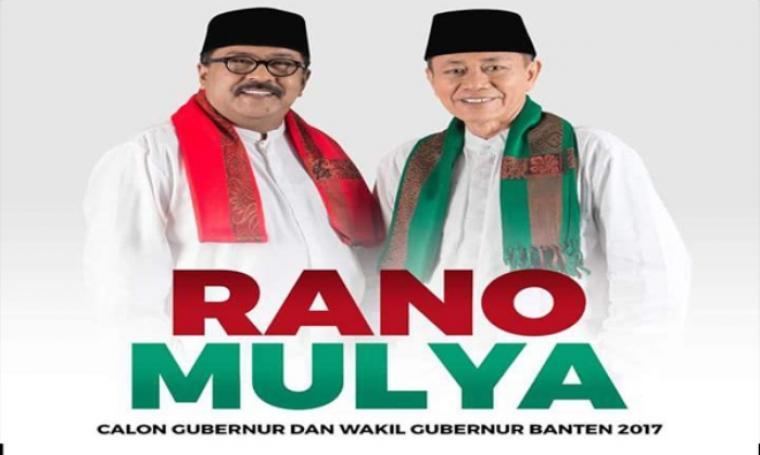 Pasangan calon petahan Gubernur dan Wakil Gubernur Banten, Rano Karno - Embay Mulya Syarif. (Dok: facebook)