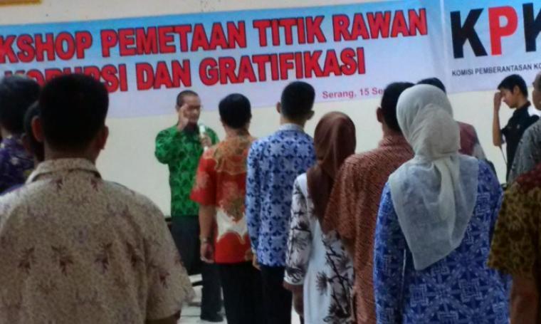 Suasana Workshop Pemetaan Titik Rawan Korupsi dan Gratifikasi, di Ruang Rapat Inspektorat Pemprov Banten, KP3B, Kota Serang, Kamis (15/9/2016). (Foto: TitikNOL)