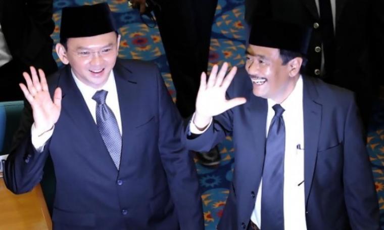 Calon petahana Basuki Tjahaja Purnama (Ahok) resmi didukung PDIP berpasangan dengan Djarot Saiful Hidayat di Pilkada Jakarta 2017. (Dok: rimanews)