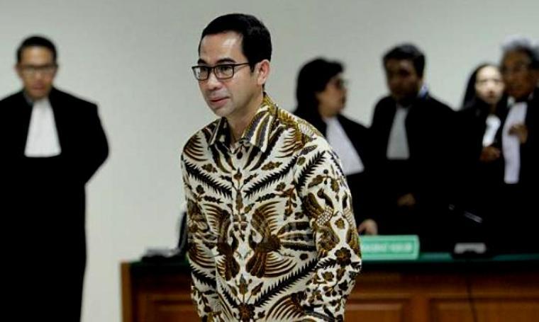 Tubagus Chaeri Wardana alias Wawan saat di persidangan. (Dok: jpnn)