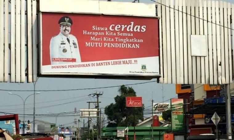 Foto Baliho Gubernur Banten Rano Karno. (Dok: Bantenpos)
