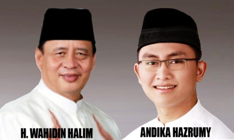 Pasangan Cagub dan Wagub Banten, Wahidin HAlim - Andika Hazrumy. (Dok: tangerangrayaonline)