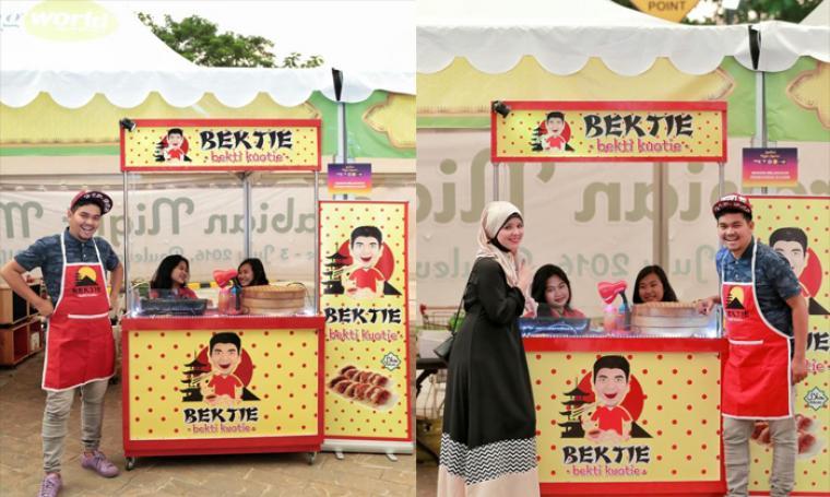 Indra Bekti membuka outlet makanan bernama Bekti Sotoy. (Dok: bintang)