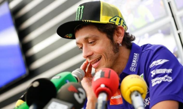 Valentino Rossi saat konferensi pers. (Dok: lintaspos)