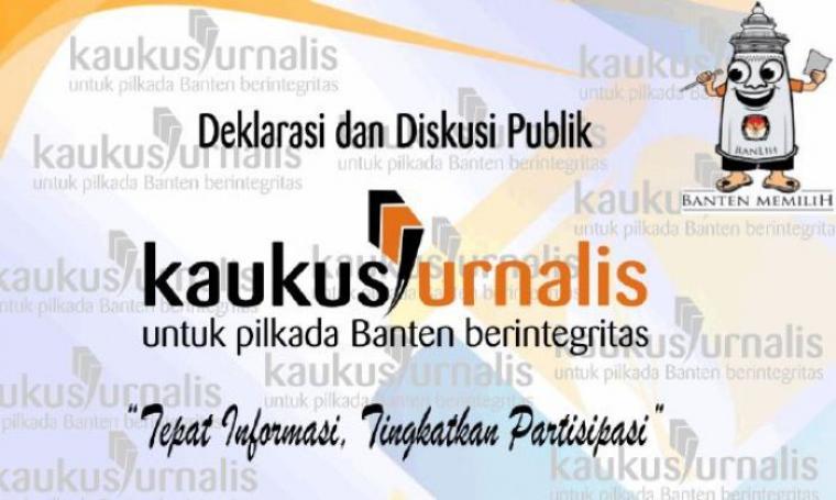 Kaukus Jurnalis untuk Pilkada Banten Berintegritas. (Foto: TitikNOL)