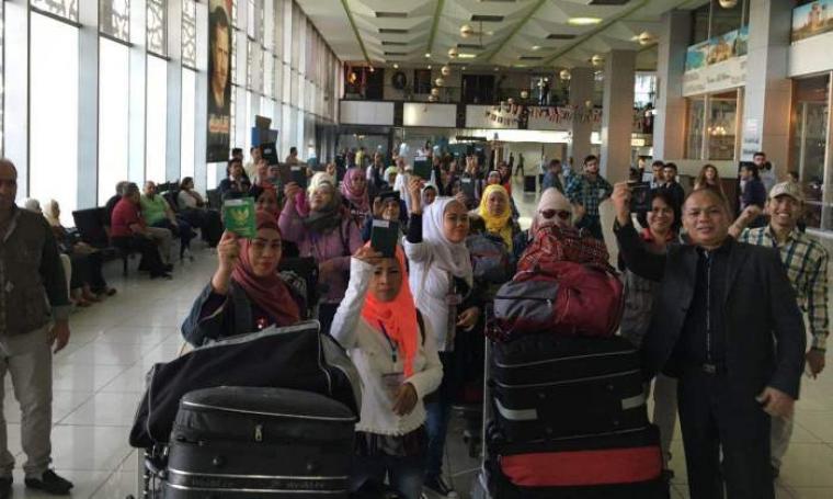 Sejumlah TKI saat akan dipulangkan ke Indonesia. (Foto: TitikNOL)
