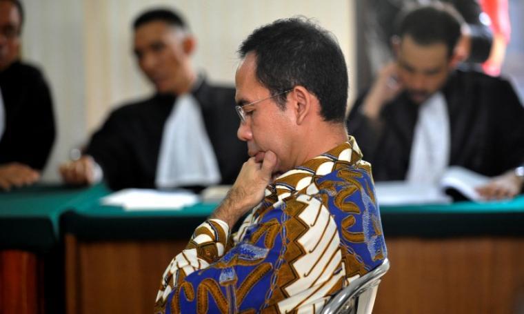 Tubagus Chaeri Wardana alias Wawan saat di persidangan. (Dok: aktual)