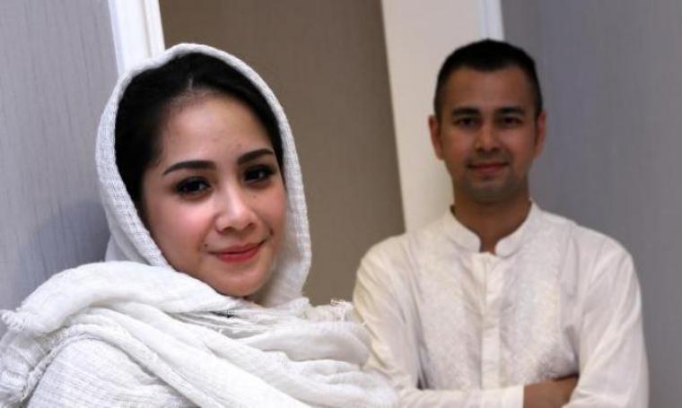 Pasangan selebritis, Nagita Slavina dan Raffiu Ahmad. (Dok: bintang)