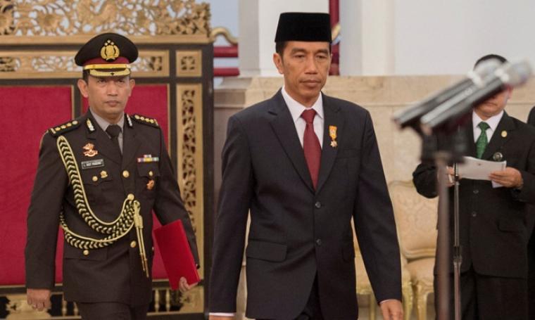 Kombes Pol Dr Listyo Sigit Prabowo dan Presiden RI, Joko Widodo. (Dok: bolaindo)