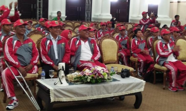 Para atlet Banten akan mengikuti tujuh cabang pertandingan pada perhelatan Peparnas yang akan diselenggarakan di Jawa Barat pada 15-25 Oktober 2016. (Foto: TitikNOL)
