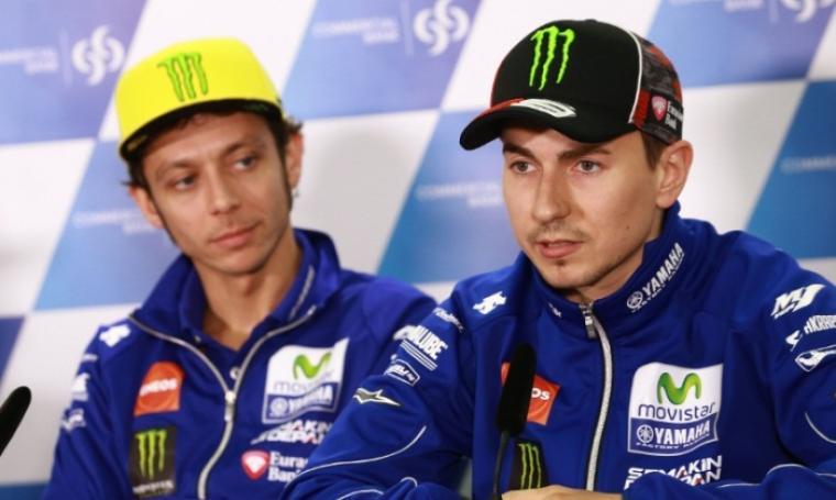 Jorge Lorenzo dan Valentino Rossi. (Dok: crash)