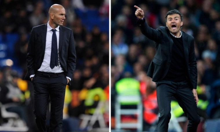 Zinedine Zidane dan Luis Enrique. (Dok: kvp10)