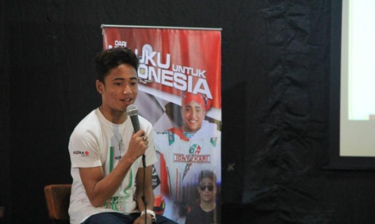 David Juliano Sitanala Pembalap F4 asal Maluku. (Dok: Sportku)